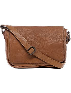 BACCINI® Schultertasche DARIA Damen Umhängetasche groß Ledertasche Handtasche Vintage-Look Damentasche echt Leder...