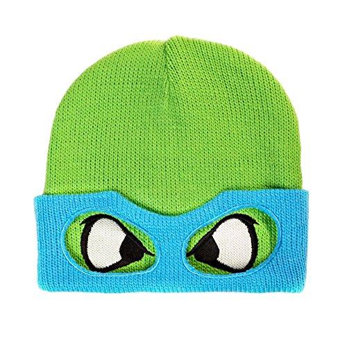 Teenage Mutant Ninja Turtles Leonardo Retro Mütze doppellagig umklappbarer Rand mit (Turtles Leonardo Ninja)