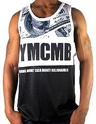 YMCMB - Débardeur Pour Les Hommes - Sous Licence Officielle - Style Hip hop / Vêtement Urbain