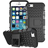 iPhone 8 Case, iPhone 8 Cover, iPhone 7 Case, iPhone 7 Cover, [Survivor] Military-Duty Case - Shockproof Impact Resistant Hybrid Heavy Duty [Armor Case] Dual Layer Armor Hard Plastic and Bumper Protective Cover Case, For Apple iPhone 7 [Shockproof] Cover,(Black)