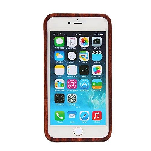 Coque iPhone 7 Anti Choc Case en Bois Naturel Forepin® Réel Etui Couvert et Housse en Wood Dur dans Motif de Sculpté élégante Protecteur pour iPhone 7 Demi-crâne