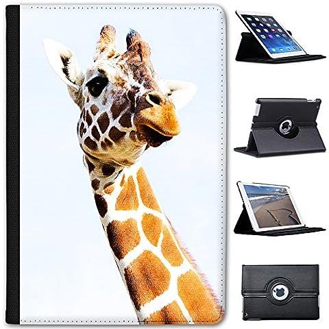 Jirafa africana (piel sintética, función atril), diseño con capacidad de soporte para tablets negro Giraffe Head Apple iPad Mini 1, 2 & 3