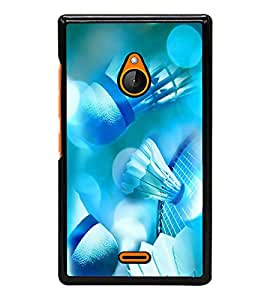 PrintVisa Designer Back Case Cover for Microsoft Lumia 540 Dual SIM (Sports Badminton Feathercock Game)