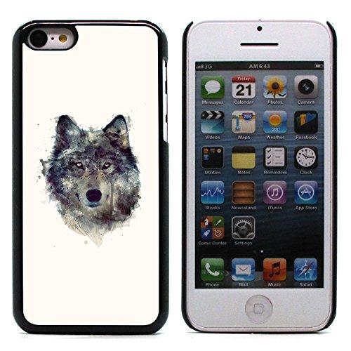 Graphic4You Wolf Tier Design Harte Hülle Case Tasche Schutzhülle für Apple iPhone 5C Design #2