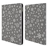 Head Case Designs Flocken Silber Urlaub Kollektion Brieftasche Handyhülle aus Leder für iPad Air 2 (2014)