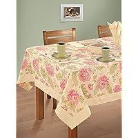 multicolori variopinte cotone floreale di primavera Tovaglie Tabelle 54 x 54 pollici, Rich Cream frontiera