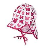 Sterntaler Schirmmütze für Mädchen mit Nackenschutz, Bindebändern und Schmetterling-Motiv, Alter: 18-24 Monate, Größe: 51, Rot (Himbeer)