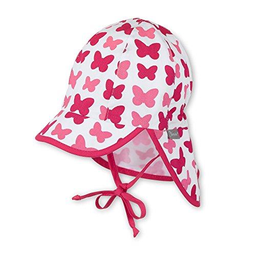 Sterntaler Schirmmütze für Mädchen mit Nackenschutz, Bindebändern und...