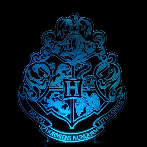 Wmshpeds Harry Potter Hogwarts escuela de colores insignia lámpara de