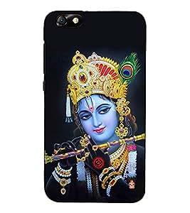 Fuson Designer Back Case Cover for Huawei Honor 4X :: Huawei Glory Play 4X (Basuri vadak Krishna theme)