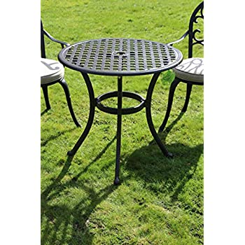 Made for us Table de Jardin Ronde en Fonte d\'aluminium Ø 70 cm ...