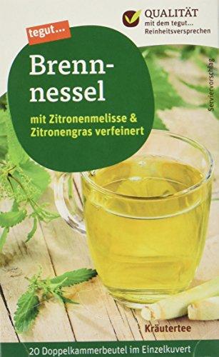 tegut... Brennnessel-Tee mit Zitronengras und Zitronenmelisse, 10er Pack (10 x 40 g)