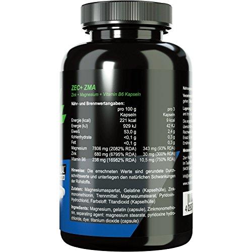 Zec+ Nutrition ZMA Zink + Magnesium + Vitamin B6
