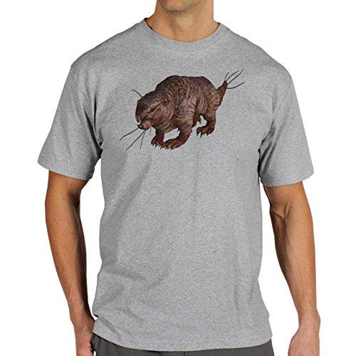 Fall Out 4 Computer Game Art Shooting Mole Rat Herren T-Shirt Grau
