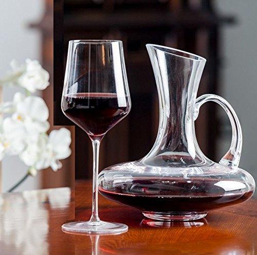 Topkapi 250.628–set di 7set di josephine con 6bicchieri vino rosso e 1decanter in vetro con manico–made in germany