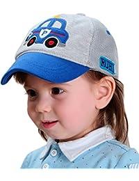 912be71bcc3 Happy Cherry Casquette de Base-ball Bébé Garçon Fille Toddler en Coton et  Mesh - Bordé à Voiture Chapeau Réglable Respirant Bob Hat…
