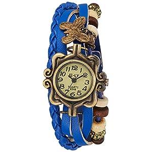 SHVAS -- Leather Bracelet Watch - Analog Display - Off White Dial - for women