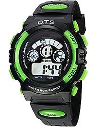 d666b0a1472a O.T.S Infantil Niños Niñas Reloj Deportivo Digital Resistente al Agua  Multifunción Led Al Aire Libre De
