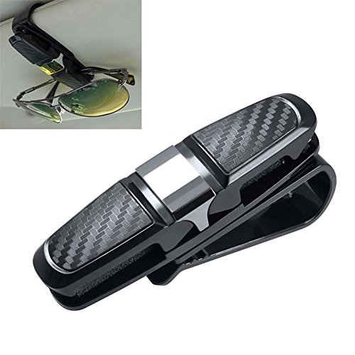 Brillenhalter für Auto Sonnenblende,Sonnenbrillen Brillen mit Kartenkarten Clip