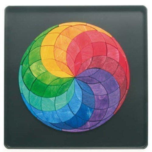 Grimms Spiel Und Holz Design Grimm's Mini Magnetpuzzle Kreis Farbspirale