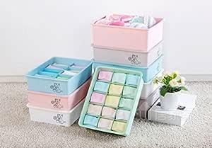 Styleys 15 Slot Drawer Organizer Storage Box Drawer Divider Innerwear Organizer Wardrobe Organizer for Innerwear, Clothing, Underwear, Bra, Socks, Tie, etc (Green)