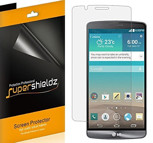 Supershieldz [6] blasenfrei High Definition Clear Displayschutzfolie für LG G3(at & T, Sprint, T-Mobile, Verizon, US Cellular, Boost Mobile, Alle Netzbetreiber)-lebenslange Umtausch-Garantie (Sprint Lg G3)