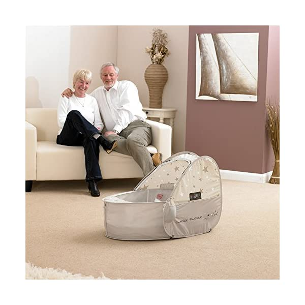 Koo-di 80 x 50 x 58 cm Sun and Sleep Pop Up Travel Bassinette  A comfortable bassinette ideal for use at home and on holidays or weekends away A polycotton travel bassinette Ideal up to 6 months or until baby can sit unaided 6