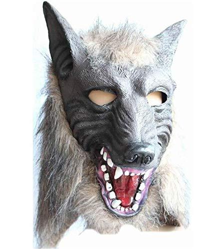 tobbrt Werwolf Halloween Maske große böse Wolf Erwachsene Vollkopf Wolf Maske Kostüm Zubehör Party Masken