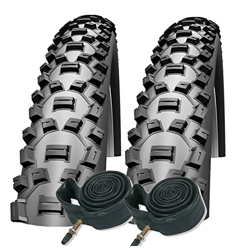 "Schwalbe Nobby NIC 26\"" x 2.25 Mountain Bike Tyres with Presta Tubes (Pair)"