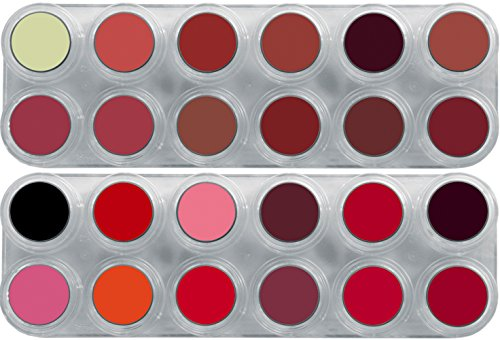 Grimas Profi Lipstick-Palette 24 Farbtöne sehr farbintensiv Lipstick-Döschen