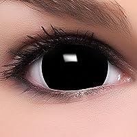 Farbige Mini Black Sclera Kontaktlinsen Lenses inkl. 10ml Kombilösung und Behälter - Top Linsenfinder Markenqualität, 1Paar (2 Stück)