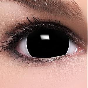 Farbige Mini Sclera Kontaktlinsen inkl. 10ml Kombilösung und Behälter – Top Linsenfinder Markenqualität, 1Paar (2 Stück)