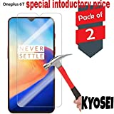 Kyosei Tempered Glass for One Plus 6t(Pack of 2)