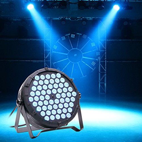 U`King LED Par Licht DMX512 Lichteffekt Disco Licht 3 in 1 RGBW Partylicht für Sommerfest Halloween Party Disco(80W)