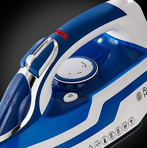 Russell Hobbs 20631-56 Plancha de Vapor de 2600 W, Color Azul y Blanco, 0.35 litros