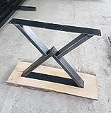 Tischkufen V Design Tischgestell 73-80 cm Rohstahl 100-40 1 Paar