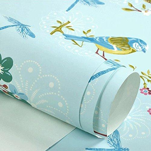 *GAOLILI Landschaft Papier Tapeten Pastoral Vliesstoffe Gelbe Blumen Vögel Schlafzimmer Wohnzimmer TV Hintergrund Tapeten Blumen und Bäume Eine große Fläche voller natürlicher Umweltschutz ( Farbe : A )*