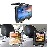 Support Tablette Voiture, 360 Degrés Rotation Support Universal Porte Tablette Appuie-tête de Voiture, Compatible Tablettes 7-12...