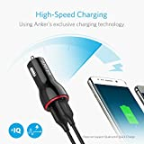 Anker 4.8A / 24W 2-Port Rapid USB Car Charger with PowerIQ Technology for iPhone, iPad Air 2, Samsung Galaxy S6 / S6 Edge, Nexus, HTC M9, Motorola, Nokia and More (Black) Bild 1