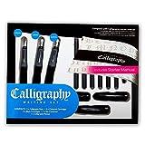Pablo®, set di scrittura calligrafica da 17 pezzi, completo con 3penne a elevata scorrevolezza, per destrorsi, adatto per tutti i livelli