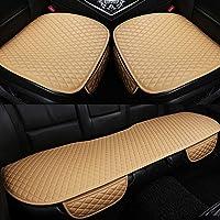 GC Cómodo Y Transpirable Four Seasons General Interior Seat Cushion Cover Pad Mat para Silla De Oficina Auto Car Chair Supplies,Beige