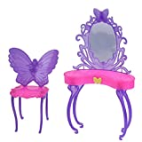 #6: Rrimin Butterfly Dressing Makeup Table Furniture for Barbie Doll(Random Color)