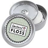DOCTORS FLOSS Hilo Dental Mentolado | Dispensador Rellenable | Embalaje Ecológico | Kit de Seda Dental Vegana para el Cuidado y Higiene Bucal | 2 Recargas x 100 m | Color Classy Olive