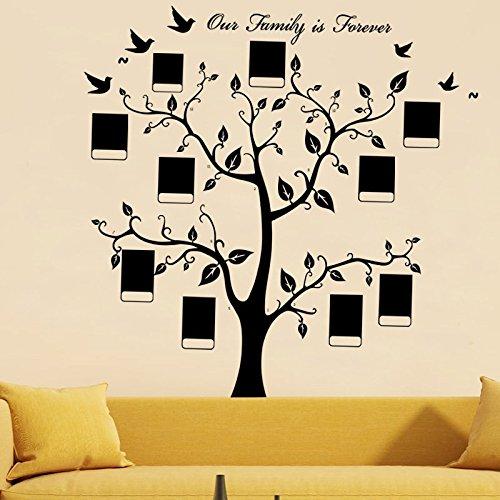 """XXXL 165.6cm * 188cm cornice portafoto albero memoria """"Nostra Famiglia è sempre Wall Stickers Adesivi da Parete"""