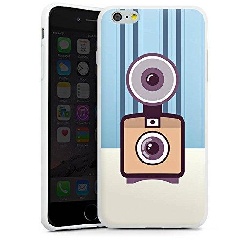 Apple iPhone X Silikon Hülle Case Schutzhülle Vintage Kamera Fotografie Symbol Silikon Case weiß