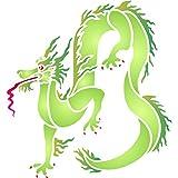 Dragon Pochoir–réutilisable Oriental asiatique Dragon Chinois murale Pochoir–Utilisation sur papier projets Scrapbooking Bullet Journal murs sols Tissu meubles en verre Bois etc. L