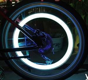 2 Stück Fahrradreifen Led Licht für Fahrradventile Fahrradventilkappen mit LED weiß Fahrrad Reifenlicht