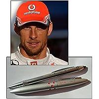 Cap & 2 penne-Porta biglietti Formula One 1, Vodafone McLaren Mercedes F1 Jenson Button