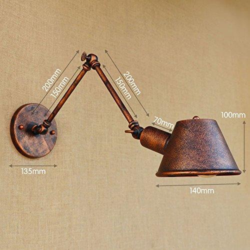 YJNB Antiquariato Loft Industriale Vintage Lampada Da Parete Home Swing