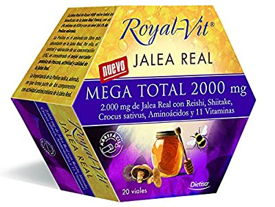 Royal Vit Mega Total Royal Jelly 2000mg 20 vials Dietisa by Dietisa